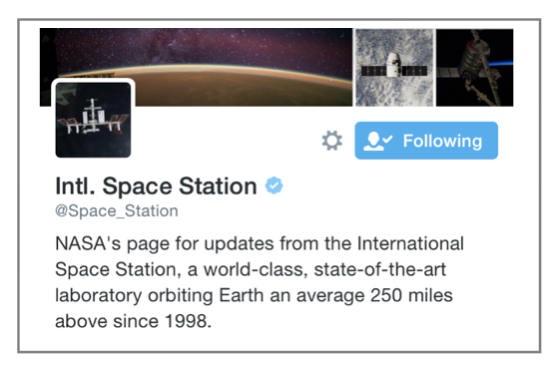Space Station Twitter Pic